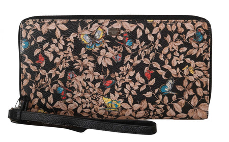 Multicolor Continental Organizer Leather Butterfly Wristlet Wallet