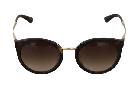 Brown Gold DG4268 Leopard Pattern Gradient Sunglasses