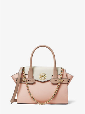 TEST PRODUCT Carmen Small Color-Block Saffiano Leather Belted Satchel