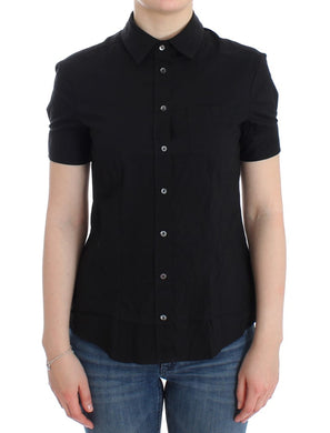 Black cotton shirt top