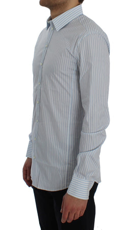 Blue Striped Slim SICILIA Shirt