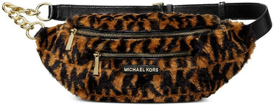 Mott Medium Animal Print Faux Fur Belt Bag