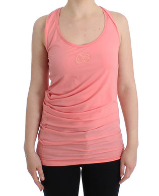 Pink cotton tank top