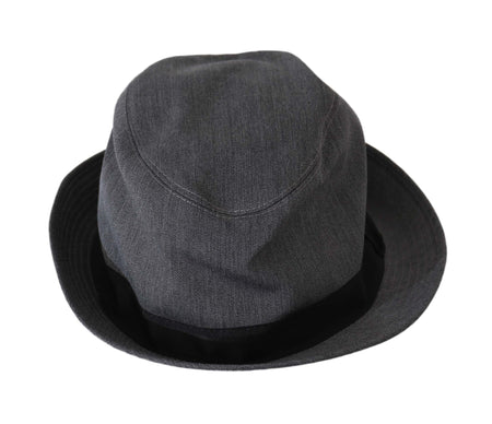 Gray Wool Blend Fedora Trilby Cappello Hat