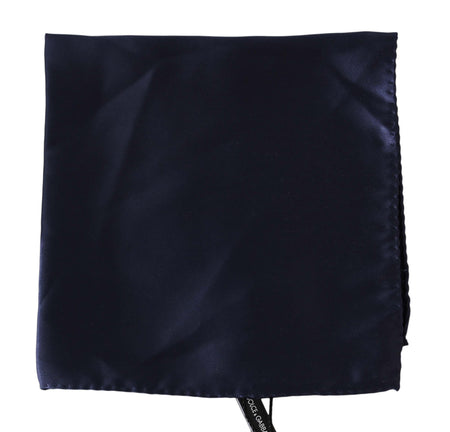 Blue Silk Square Handkerchief