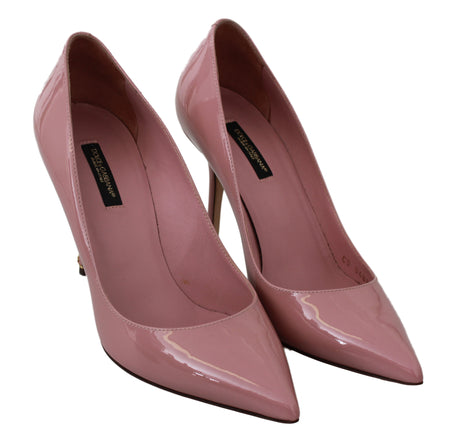 Pink Patent Leather Pumps Heels
