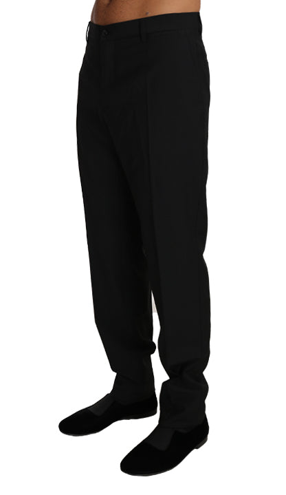 Black Wool Formal Dress Trousers Pants