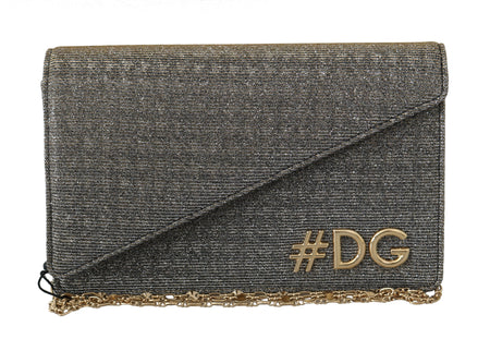 Gray Polyester Shoulder #DG GIRLS Clutch Bag