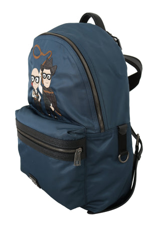 Blue Cowboys Patch Casual School Nylon Backpack