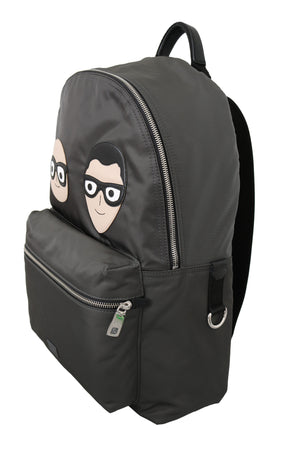 Gray Mens Patch Casual School Backpack