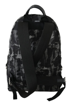 Black Camouflage Mens Casual School Backpack