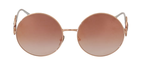 Pink Gold DG2205 Circle Polarized DG Logo Sunglasses