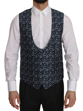 Star Patterned Slim Fit Formal Vest