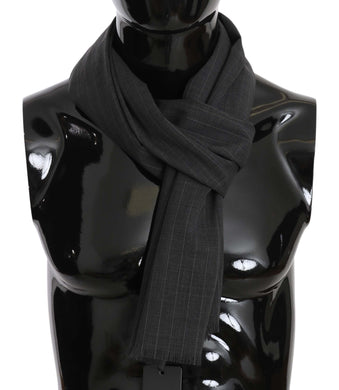 Gray Wool White Lining Mens Scarf