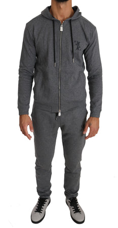 Gray Cotton Sweater Pants Tracksuit