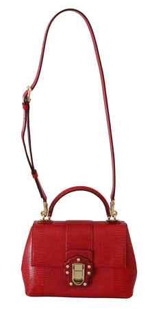 Red 100% Leather LUCIA Hand Shoulder Borse Bag Purse