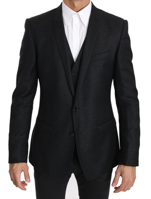 Black Two Piece Vest Jacket Blazer