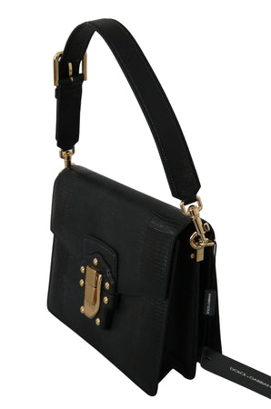 Black Leather LUCIA Shoulder Messenger Hand Purse