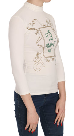 Crew Neck It Is Not A Frame Up! Print Blouse