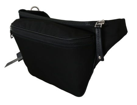 Nylon Black Mens Sports Waist Fanny Purse Pouch