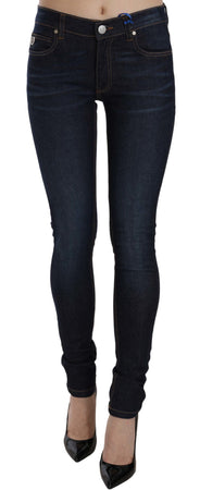 Blue Stretch Denim Cotton Skinny Fit Pant