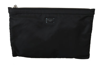 Black Mens Clutch Hand Purse Toiletry Pouch