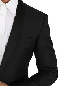 Black Wool Silk GOLD Blazer Jacket