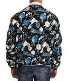 Black Music Print Summer Bomber Jacket