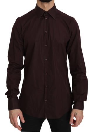 Maroon Cotton GOLD Mens Formal Shirt