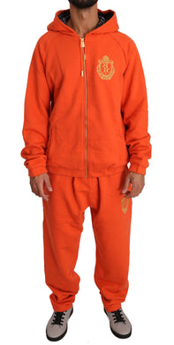 Orange Cotton Sweater Pants Tracksuit