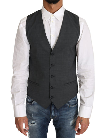 Gray Wool Dress Gillet Waistcoat