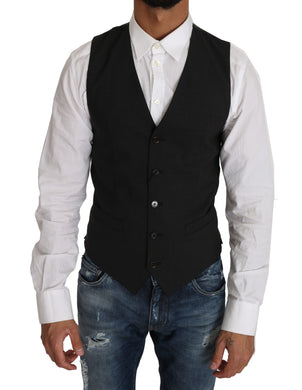 Black Wool Dress Gillet Waistcoat