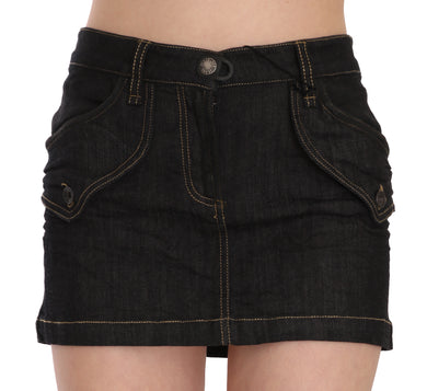 Denim Cotton Stretch Casual Mini Skirt