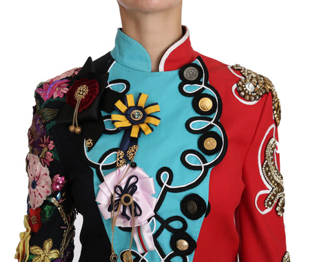 Coat Crystal Floral Baroque Sicily  Jacket