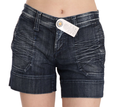 Blue Stretch Cotton Mini STUDIO Shorts