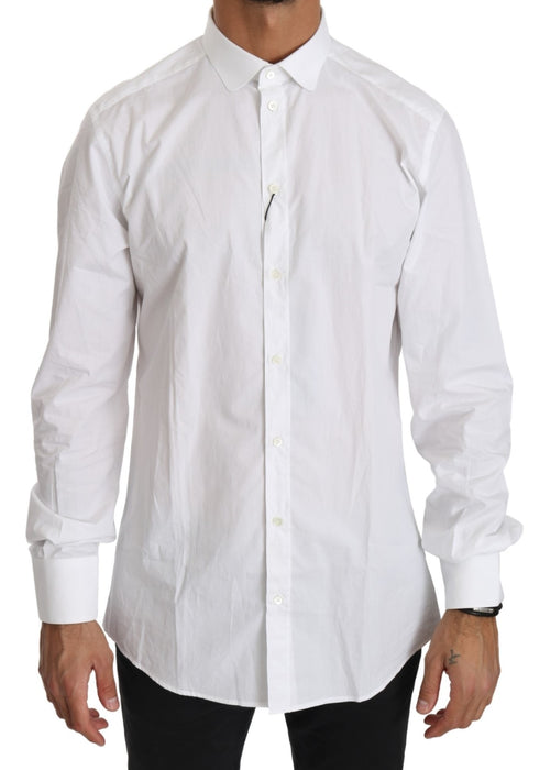 White Cotton Long Sleeve Top Shirt
