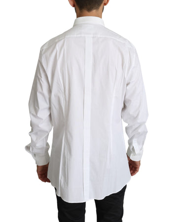 White Cotton Casual Mens Top Shirt