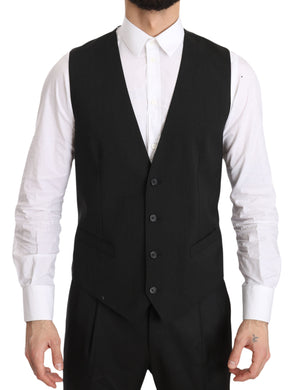 Gray Gilet STAFF Regular Fit Formal Vest