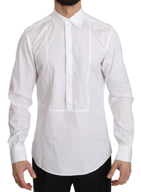 White 100% Cotton Slim Fit Shirt