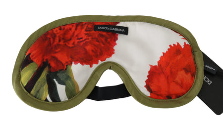 Floral Print Green Lining Sleep Eye Cover Mask