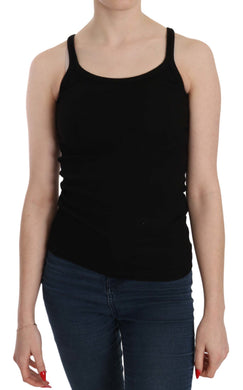 Black Sleeveless Spaghetti Strap Blouse