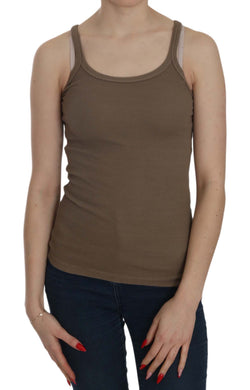 Brown Sleeveless Spaghetti Strap Top