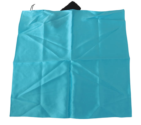 Light Blue Square Wrap Shawl Silk Scarf