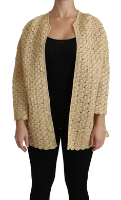 Beige Cardigan Vest Top Viscose Sweater
