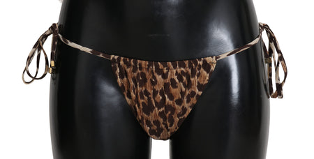 Brown Leopard Bottom Beach Swimsuit