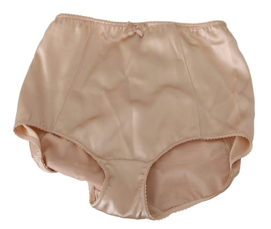 Beige Flower Logo Stretch Bottoms Underwear