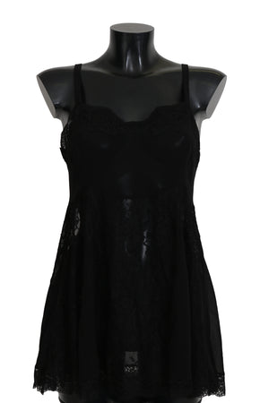 Black Silk Lace Dress Lingerie Chemisole