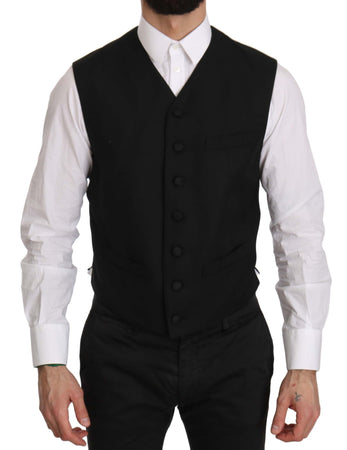 Black Formal Dress Waistcoat Gillet Vest