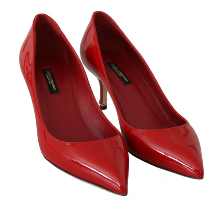 Red Patent Leather Heels Pumps