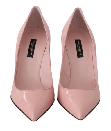 Pink Patent Leather Heels Pumps
